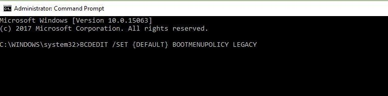 BCDEDIT Command - Kernel Security Check Failure
