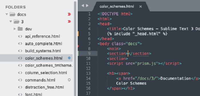 Sublime Text Screen