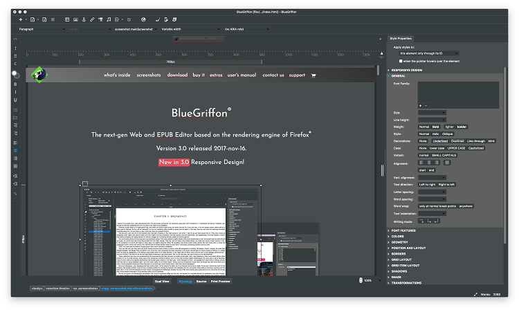 BlueGriffon - Best HTML Editors