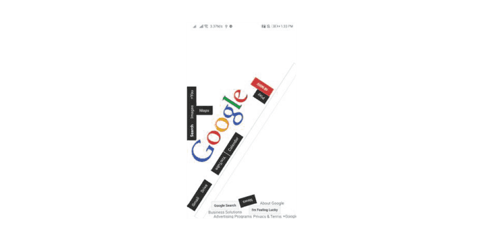 Google Gravity - Mobile Devices