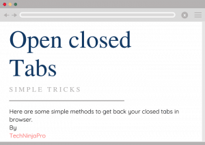 Open Closed Tabs