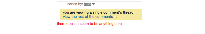 Reddit Comment not found