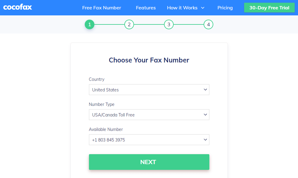 Sign in to your CocoFax Account
