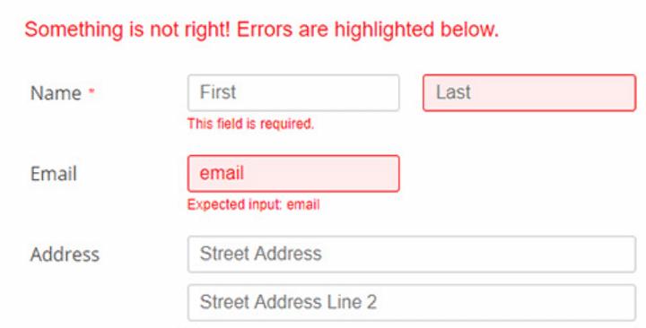 Validating HTML Forms - Javascript Usage