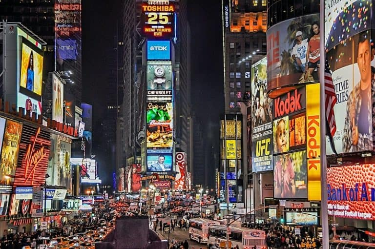 advertisements on billboards