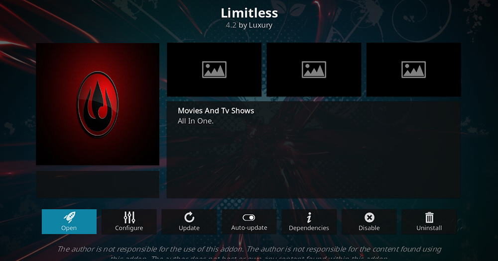 Limitless - Best 4K Kodi Addons