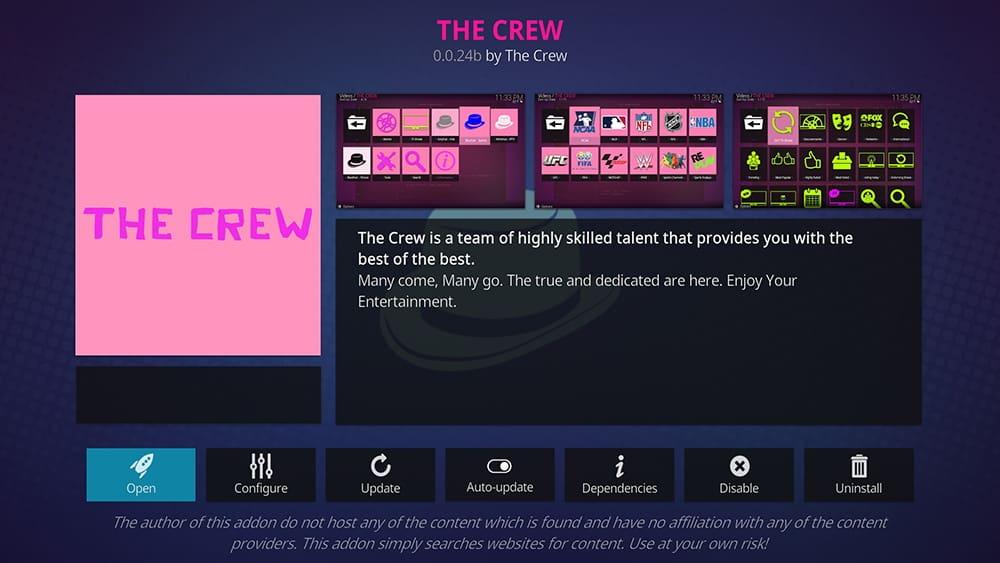 The Crew - Best 4K Kodi Addons