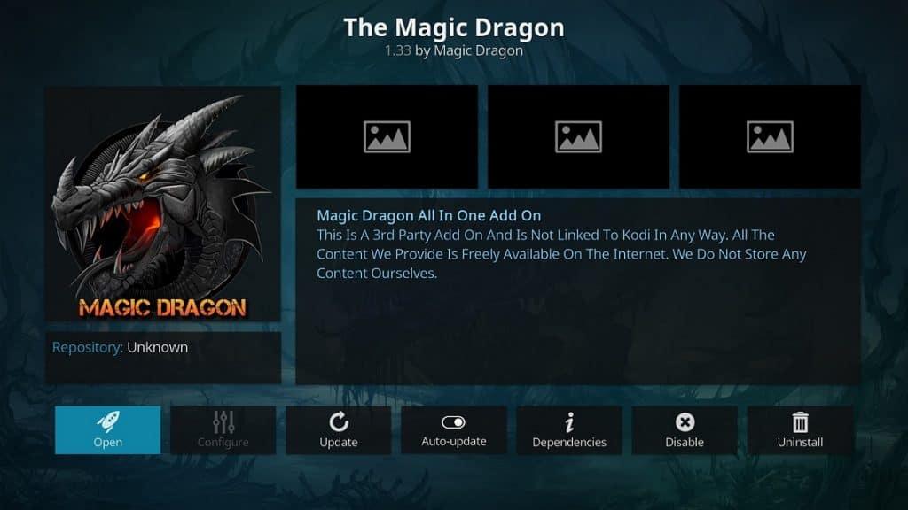 The Magic Dragon - Best 4K Kodi Addons