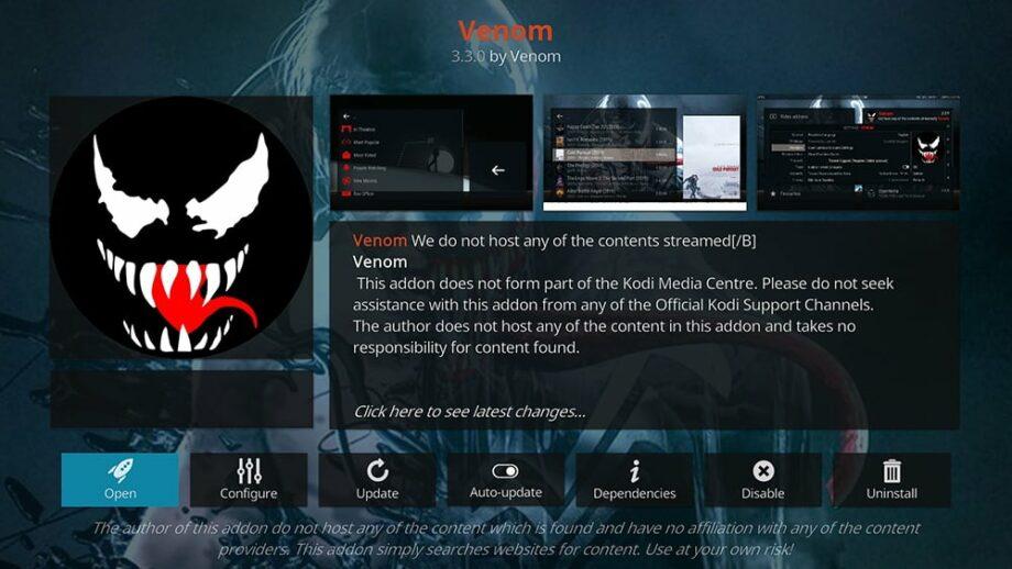Venom - Best 4K Kodi Addons