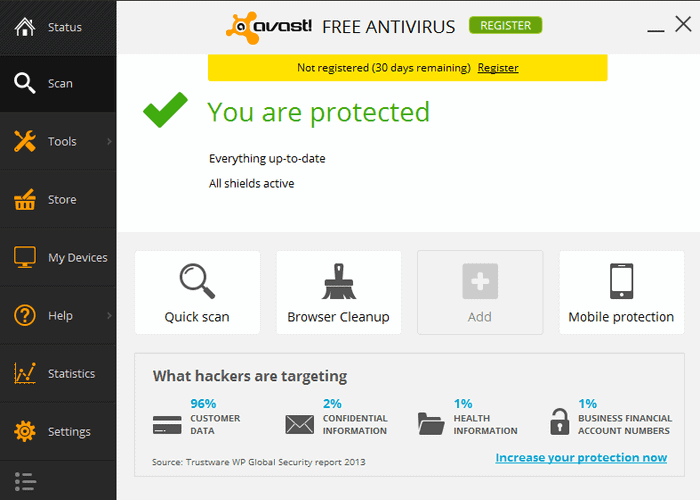 System Requirement - Avast Free Anitivirus 2016