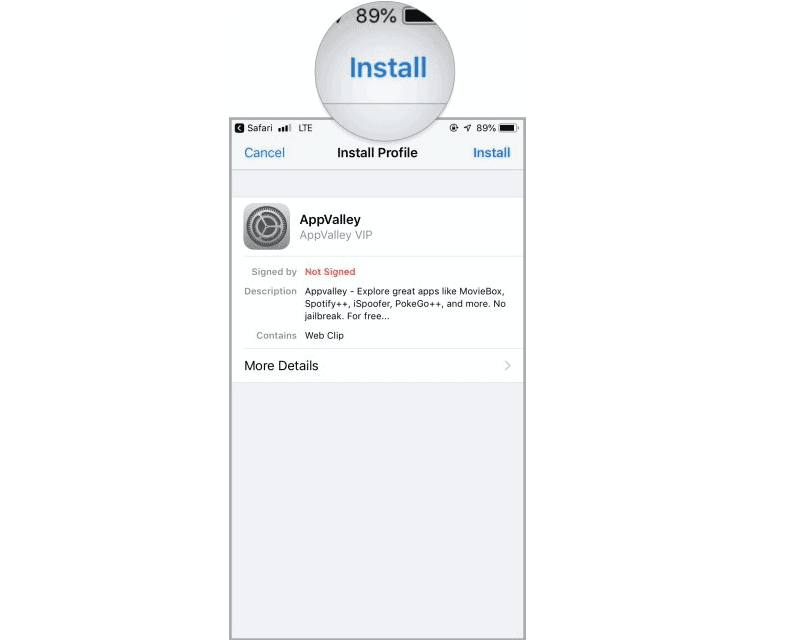 Install App - Appvalley