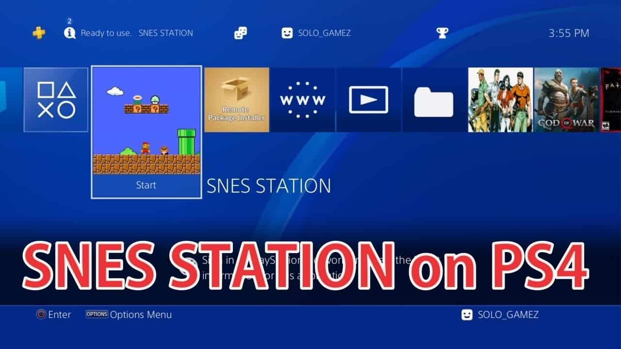 SNES Station PS4 Emulator