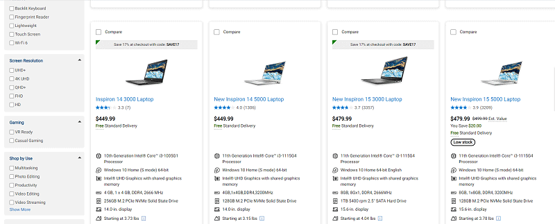 Dell Pricing Comparison