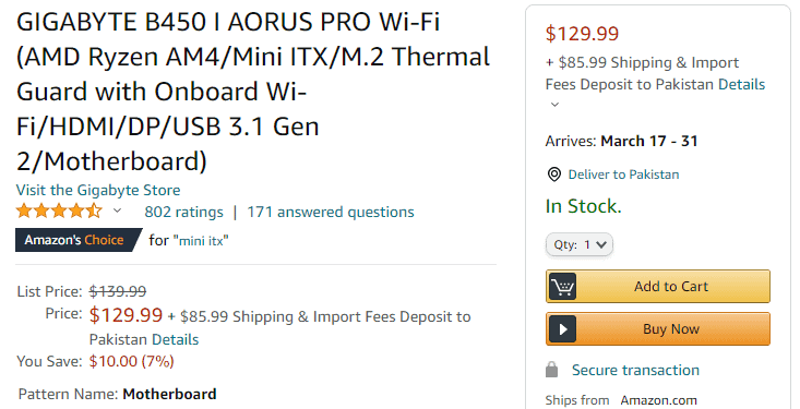 Micro-ITX Motherboard Price