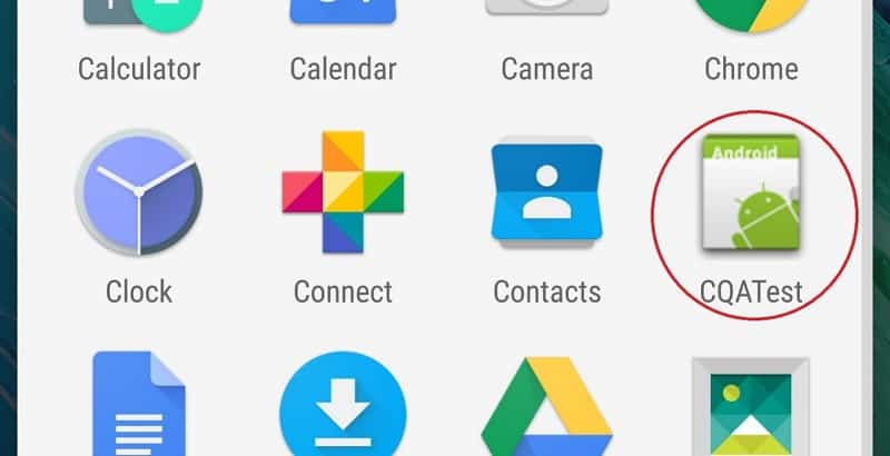 CQATest App On My Cell-Phone