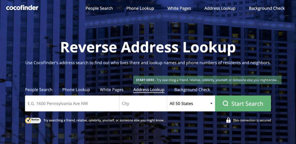 Cocofinder Address Lookup
