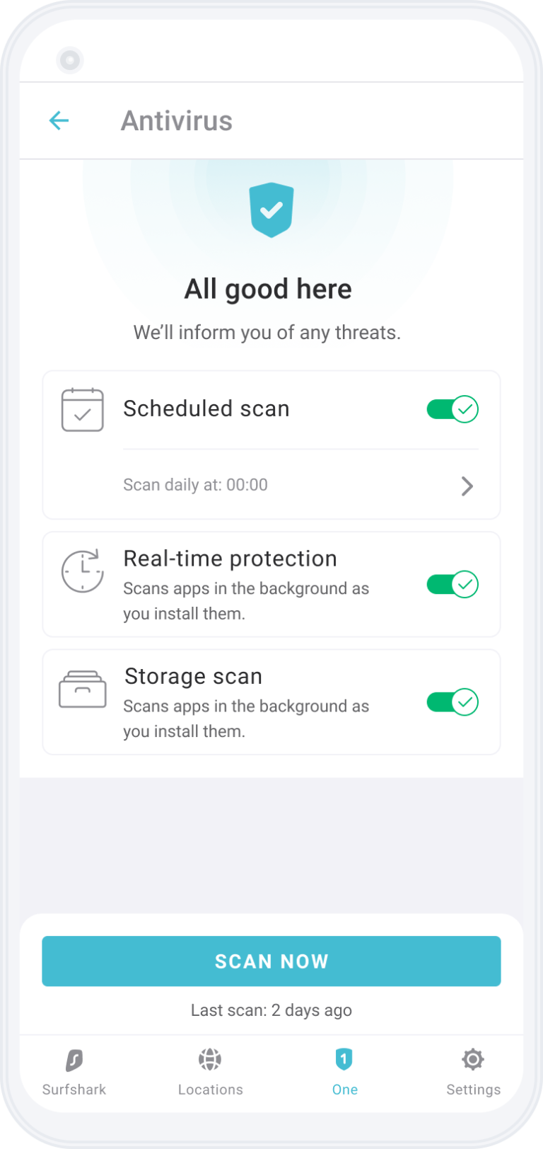 Surfshark Antivirus on your Android