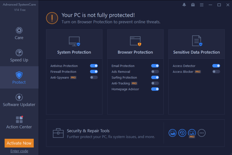 Protected with Iobit