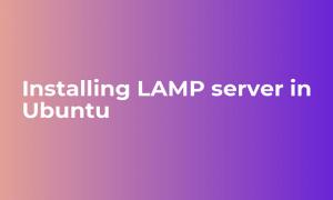 Install lamp in Ubuntu